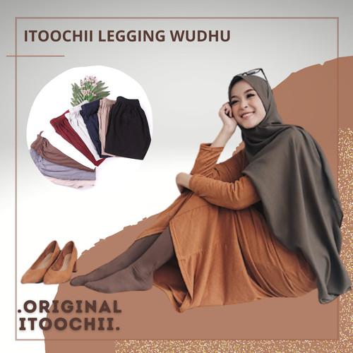 Foto Produk Celana Legging Wudhu Big size fit XXL bahan Adem Stocking Wudhu dari itoochii olshop