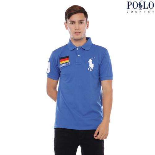 Foto Produk Polo Shirt - Polo Shirt Pria - Polo Shirt Logo GERMANY 2125 - Hijau, M dari Polo Country Indonesia