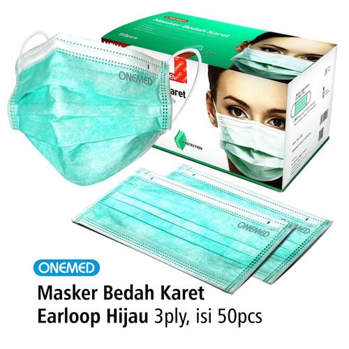 Foto Produk Masker Karet Hijau OneMed box 50pcs dari Onemed Rawat Luka