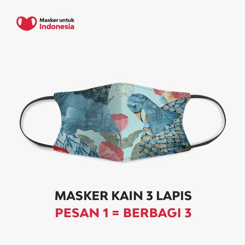 Foto Produk Masker Kain 3 Lapis (3 Ply) Sissae x Masker untuk Indonesia dari Masker untuk Indonesia