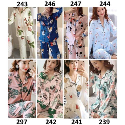 Foto Produk Piyama Wanita Piyama Cewek Baju Tidur Wanita Cewek Kancing Depan Bagus dari Michary Shop