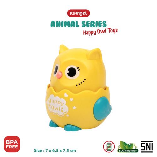 Foto Produk IQANGEL HAPPY OWL TOYS / Mainan Edukasi Bayi / Mainan Motorik Anak - Yellow dari KSM Baby and Kids