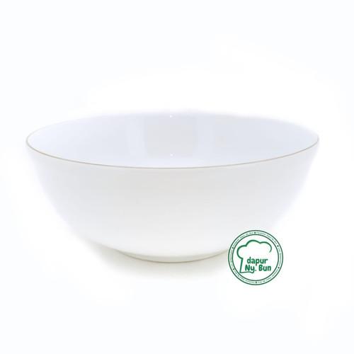 Foto Produk Mangkok Sayur BESAR LIST EMAS / Ukuran 23cm / Mangkuk Saji Keramik dari Dapur Ny.Bun