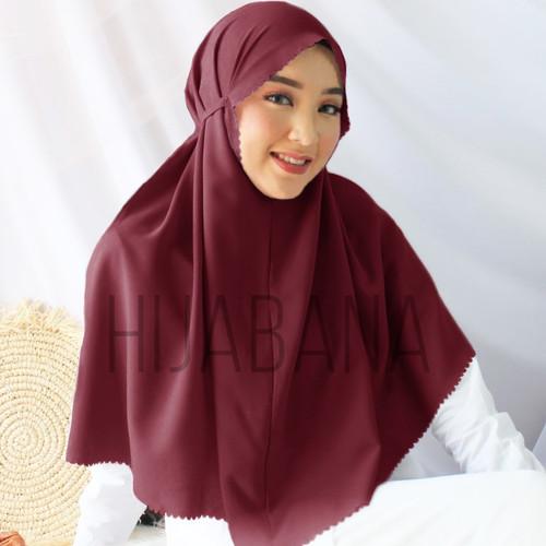 Foto Produk Hijab Lasercut Kia Uk L Besar - Bergo Lasercut Kerudung Instan L - Maroon dari konveksihijab