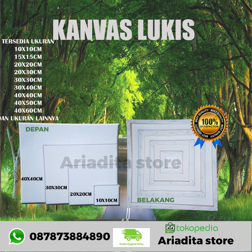 Foto Produk kanvas lukis tc ukuran 20x20cm dari Ariadita store
