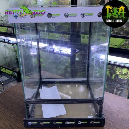 Foto Produk REPTIZOO Terrarium 30x30x45cm - Kandang Amfibi dari Dunia Anura