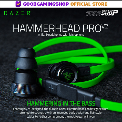 Foto Produk Razer Hammerhead Pro V2 - Gaming Earphone dari Goodgamingshop