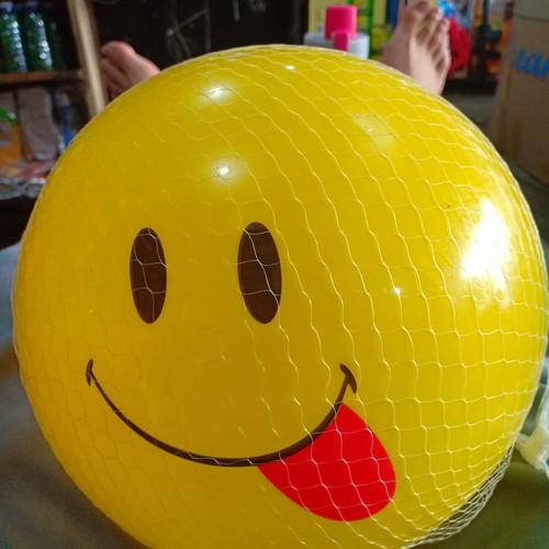 Foto Produk Mainan Bola Karet Smile KUNING JALA dari ANEKA MAINAN ONLINE