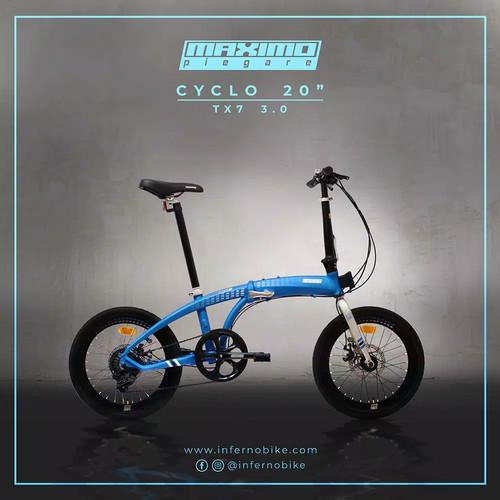 "Foto Produk PERDANA! sepeda lipat BNIB SNI SELI TX7 3.0 20"" Alloy by Sepeda Family - Hitam dari sepeda viral"