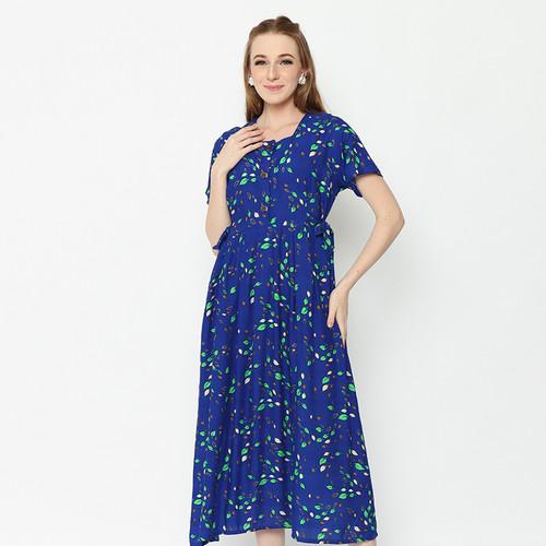 Foto Produk Daily Wear Adinata Batik Lexa Blue Long Dress - XL dari ADINATA BATIK ID