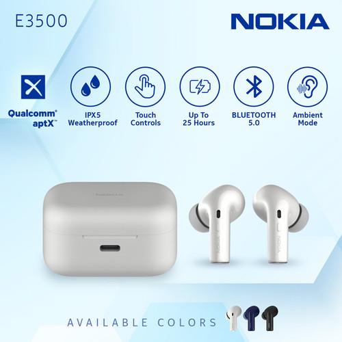 Foto Produk Nokia True Wireless TWS Earphone E3500 - White dari Nokia Audio Official Store