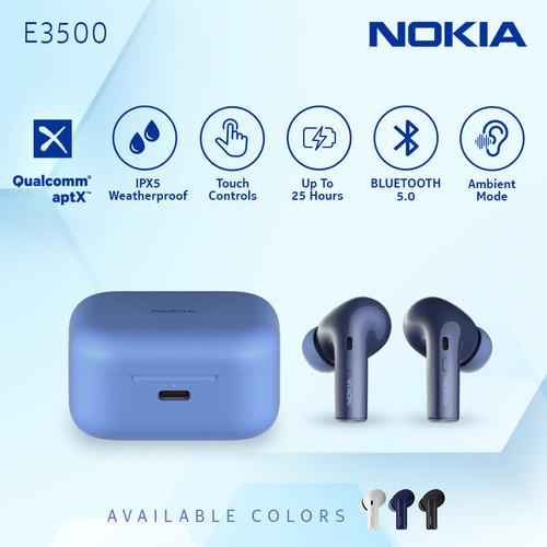 Foto Produk Nokia True Wireless TWS Earphone E3500 - Blue dari Nokia Audio Official Store