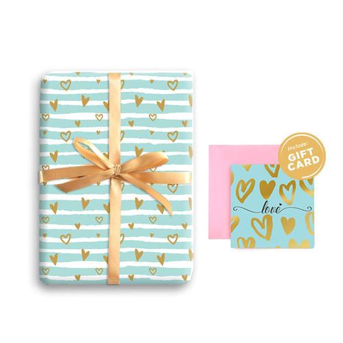 Foto Produk Paket Kertas Kado & Kartu Valentine Harvest Gift Set - Sweet Heart 4 dari Harvest Goods