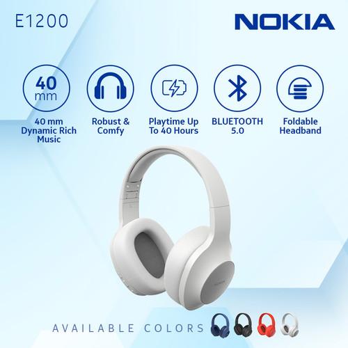 Foto Produk Nokia Wireless Bluetooth 5.0 Headphone / Headset with Mic E1200- White dari Nokia Audio Official Store