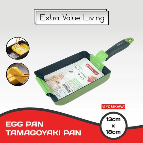 Foto Produk YOSHIKAWA EGG PAN teflon kotak tamagoyaki EVL-CL-13-18 dari Extra Value Living