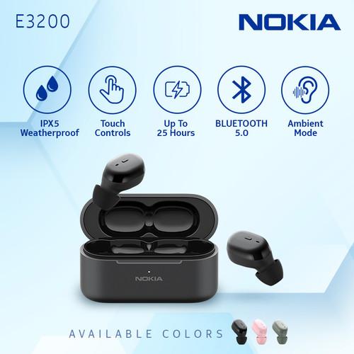 Foto Produk Nokia True Wireless TWS Earphone E3200 - Black dari Nokia Audio Official Store