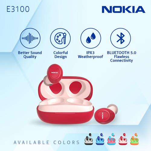 Foto Produk Nokia Essential True Wireless TWS Earphone E3100 - Red dari Nokia Audio Official Store
