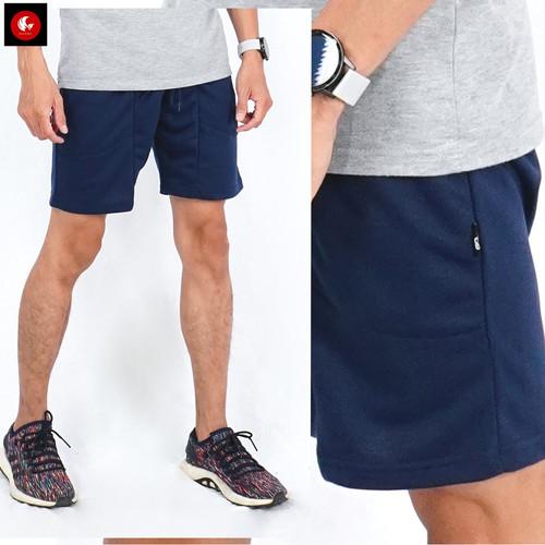 Foto Produk Okechuku WILSON Celana Santai Pria Celana Pendek Pria Terbaru Murah - Navy, L fit to XL dari Okechuku