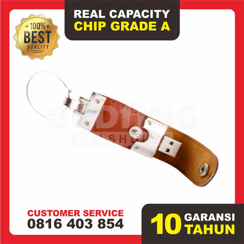 Foto Produk USB Flashdisk Kulit - GARANSI TUKAR BARU Souvenir Promosi | FDLT27 - Empat GB dari Gudang Flashdisk Murah