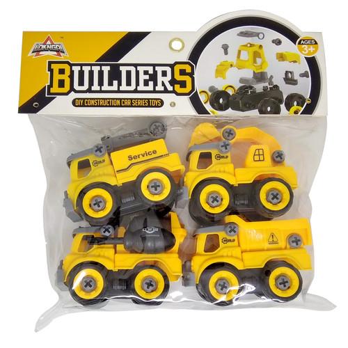 Foto Produk 4pcs DIY Mobil Konstruksi LY008 Series Toys Mainan Anak Laki Laki dari Grandia Shop