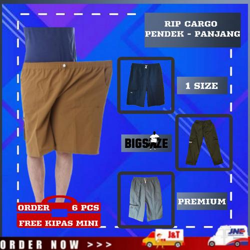 Foto Produk Celana Cargo Pria Bigsize Celana Pendek Pria Distro Hits Terlaris - Hitam, PENDEK dari YOUNG'Clothes