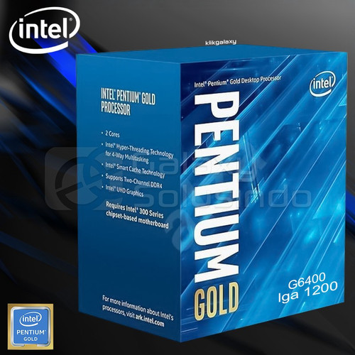 Foto Produk Intel Pentium Gold G6400 Processor dari t_pedia pc