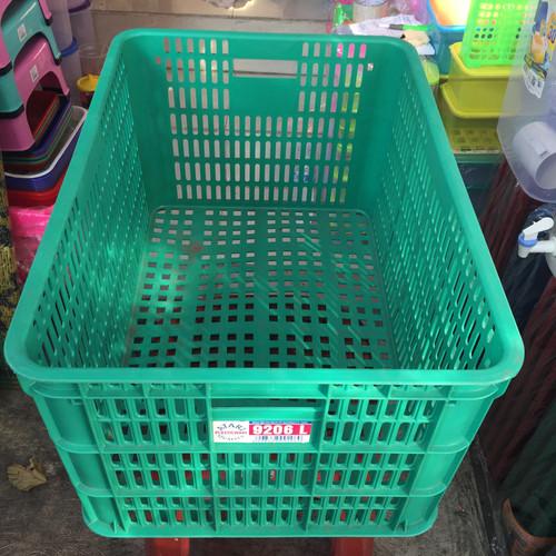 Foto Produk Box Container 9206 L Atari Green Leaf Mirip Keranjang Hanata 2003 dari laulau