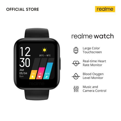 Foto Produk realme Watch [Touchscreen, Heart Rate Monitor, Blood Oxygen Monitor] - Hitam dari realme Official Store