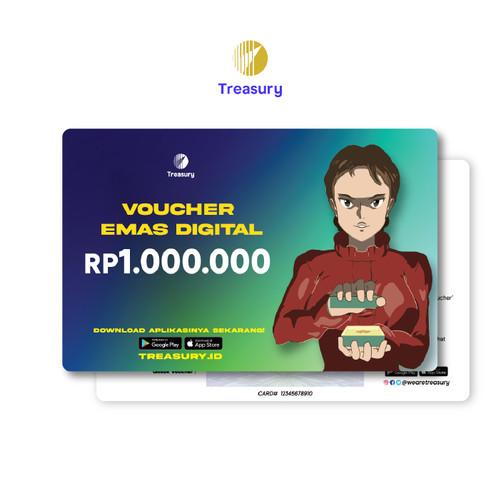 Foto Produk Voucher Emas Fisik Treasury - Rp1.000.000 dari Treasury Official Store
