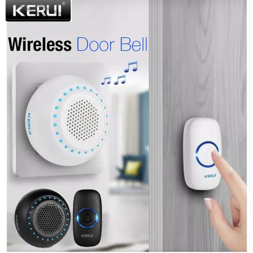 Foto Produk Kerui M523 Wireless Bel Pintu Doorbell Waterproof LED Transmitter 1 - 1tombol+1Speake dari TB.Mutiara Jaya