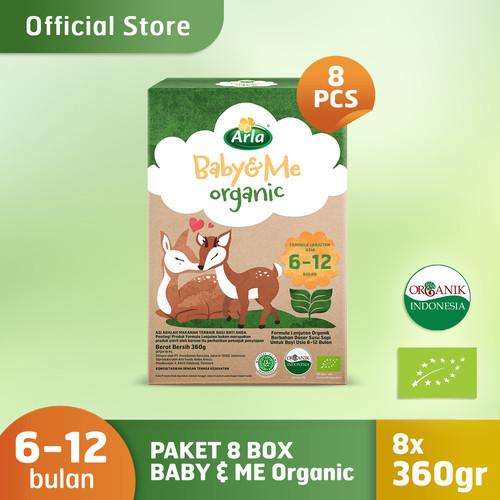 Foto Produk Paket 8 Box Arla Baby & Me Organic - Susu Formula Bayi Organik 6-12bln dari PUREGROW Organic House