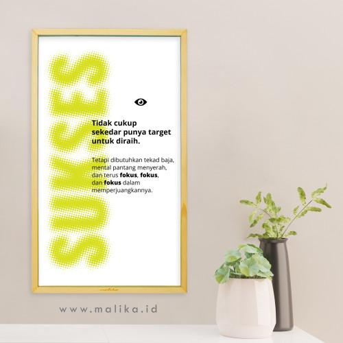 """Foto Produk Hiasan Dinding Kata Motivasi """"Terus Fokus"""" Kayu dari malikawallart"""