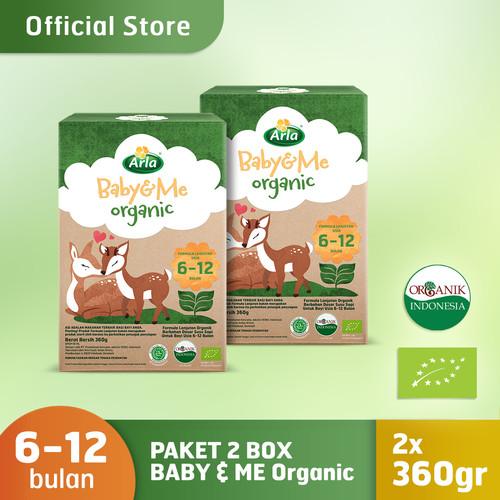 Foto Produk Paket 2 Box Arla Baby & Me Organic - Susu Formula Bayi 6-12 bln 360gr dari PUREGROW Organic House