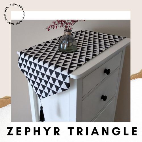Foto Produk Table Runner 210*32 Canvas Linen / Taplak Meja Tamu Panjang Vintage - Zephyr Triangle dari Le Carre