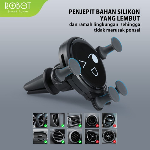 Foto Produk Car Holder Robot RT-CH13 RTCH 13 RT-CH-13 Anti-Shake Air Vent dari PojokITcom Pusat IT Comp