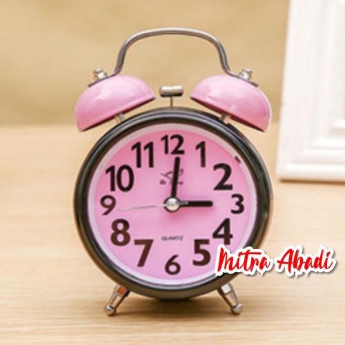 Foto Produk Jam Weker Klasik Twin Bell / Alarm Clock Classic Twin Bell - Pink dari Toko Mitra Abadi