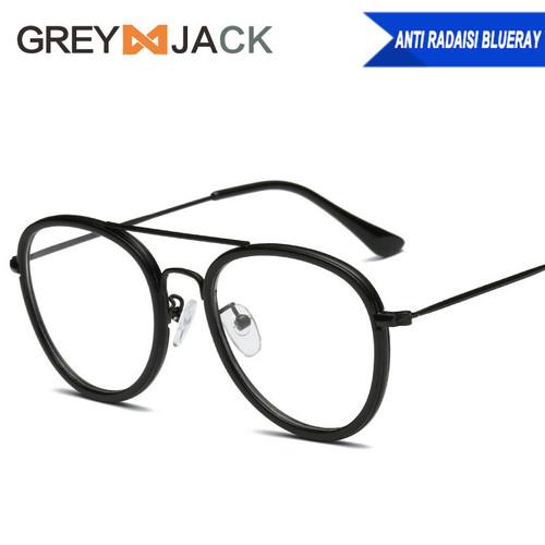 Foto Produk kacamata anti radiasi dewasa fashion pria dan wanita terbaru 98029 - Black dari Grey Jack