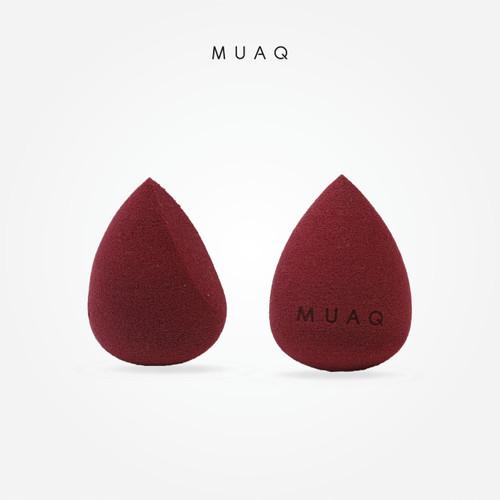 Foto Produk MUAQ Make-up Sponge Super Soft – Teardrop (Maroon) dari MUAQ Beauty