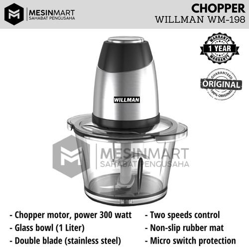 Foto Produk Food Chopper Blender WILLMAN WM-198 Giling Daging Bumbu Rempah Dapur dari MesinMart