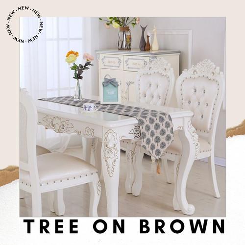 Foto Produk Table Runner 210*32 Canvas Linen / Taplak Meja Tamu Panjang Vintage - Tree On Brown dari Le Carre