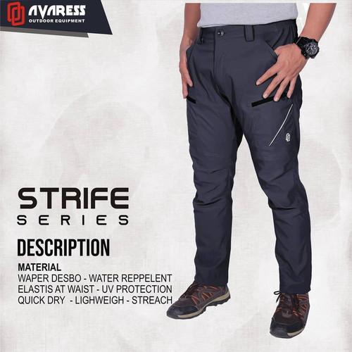 Foto Produk Celana gunung Avaress celana Panjang strip ori Avares strech Quickdry - L, Hitam dari marka flow adventure