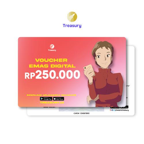 Foto Produk Voucher Emas Fisik Treasury - Rp250.000 dari Treasury Official Store