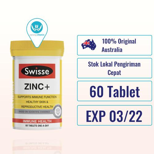 Foto Produk Swisse UltiBoost Zinc + 60 Tablet Ori Australia Zinc+ dari Warung Vitamin