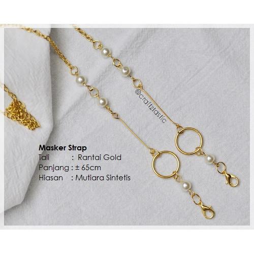 Foto Produk Masker Strap / Tali Masker / Kalung Masker /Masker Lanyard _ Mutiara G dari craftztastic