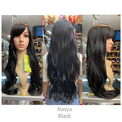 Foto Produk Wig murah promo rambut palsu bahan fiber ikal panjang wanita ON SALE - Hitam dari Lady's Hair