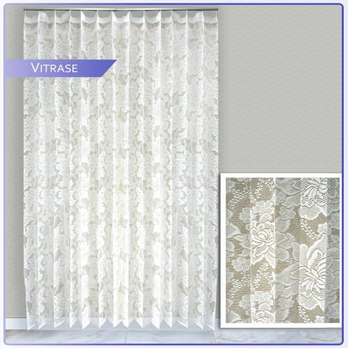 Foto Produk Gorden vitrase/ Vitrase polos /Vitrase putih/Vitrase plisket murah - Vit full bunga, 100x150 dari Royal Gorden ID