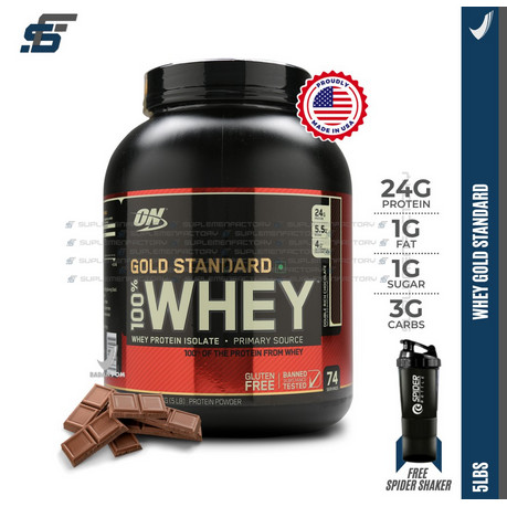 Foto Produk ON WHEY GOLD STANDARD 100% WHEYGOLD 5LBS OPTIMUM NUTRITION 5 LBS WGS dari suplemenfactory