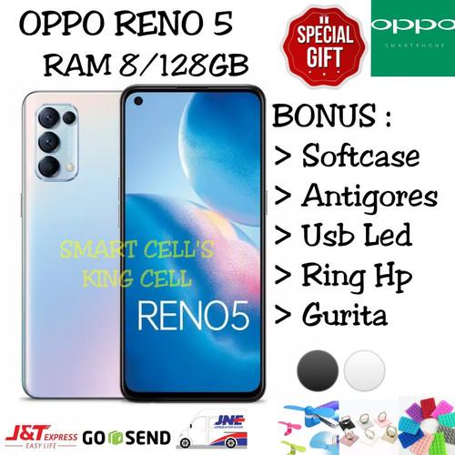 Foto Produk OPPO RENO 5 RAM 8/128GB GARANSI RESMI OPPO INDONESIA - Silver dari smart cell's