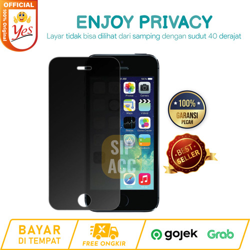 Foto Produk Iphone 6/6+/7/7+/8/8+ Tempered Glass Spy Privacy Anti gores Screen dari SIP ACC