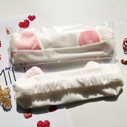 Foto Produk Bandana / Bando Masker Lucu Motif Kelinci Pink Putih Hitam Abu Bagus - Putih dari TBS Store20